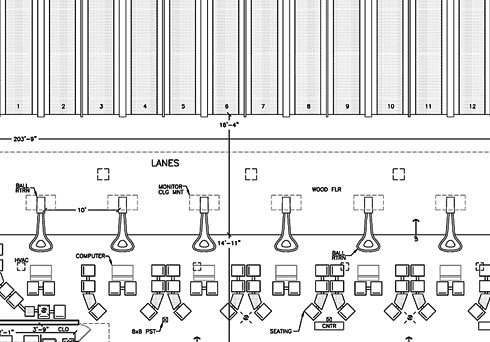 Bowling alley building plans bing images Bowling alley floor plans
